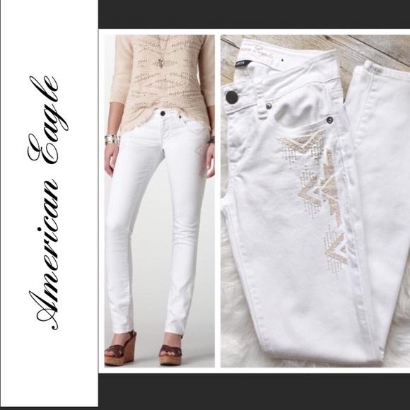 31089df7f90e46 American Eagle Outfitters Pants | Aeo White Jeans | Poshmark